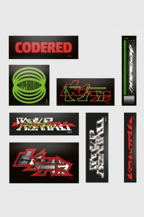 Набор наклеек CODERED X Hyperboloid Records collab stickerpack 29/09/2018
