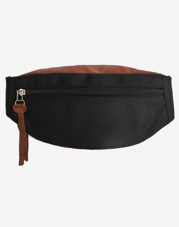 Hip Bag Brown Artificial Leather