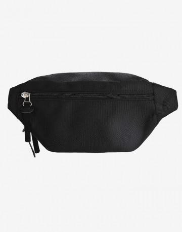 Сумка Hip Bag Черная Кирза
