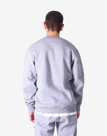 Block Crew-neck Gray