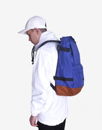Action Backpack Blue/Brown Suede
