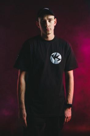 T+ Round Logo CODERED x Versus T-Shirt Black