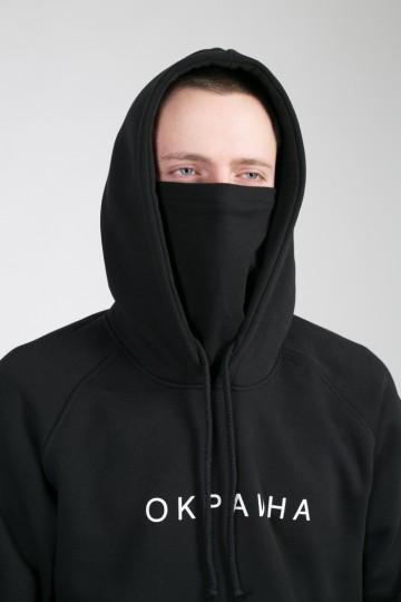 Толстовка Hood CODERED x Окраина Черная
