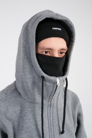 Толстовка Mask Zip Темно-серый меланж