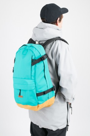 Action Backpack Turquoise/Red Suede
