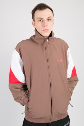 Olymp Track Jacket Tobacco Brown/White/Red