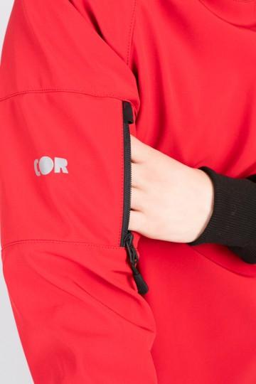 Firm 2 Windbreaker/Crew-neck Red/Black Hood