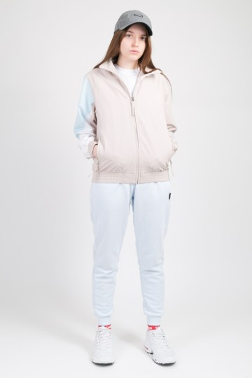 Olymp Lady Track Jacket Beige/Light Blue/White
