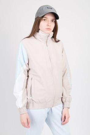 Olymp Lady Track Jacket Beige/Light Blue/White