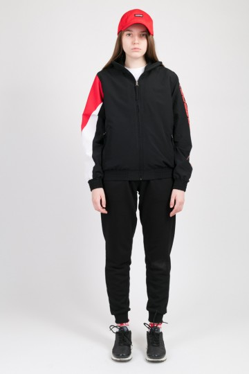 Олимпийка Olymp Lady Черный/Красный/Белый