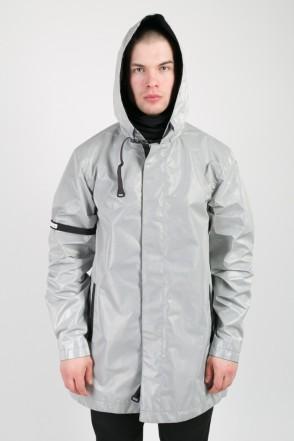 Upfront Raincoat Reflective Gray