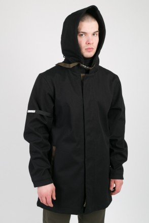 Upfront Raincoat Black Twill