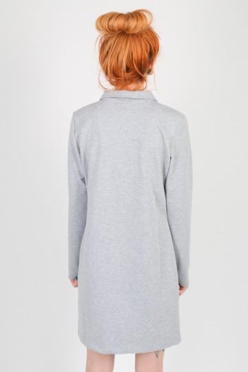 Adress Polo Dress Light Gray Melange