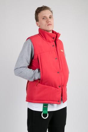 Track Vest Red