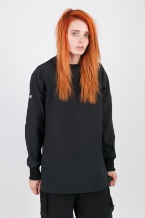 Clean Dress Wind Breaker/Crew-neck Black