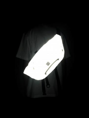 Сумка поясная Hip Bag XXL Серый Световозвращающий