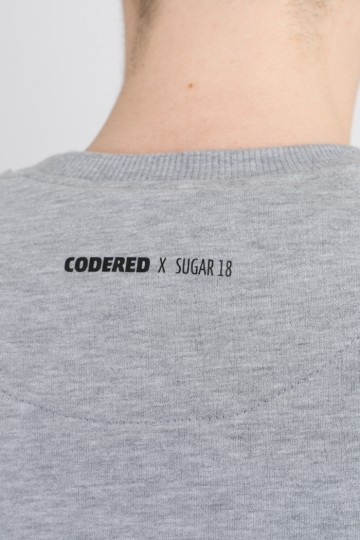 Крюнек Firm CODERED x Sugar 18 Серый Меланж