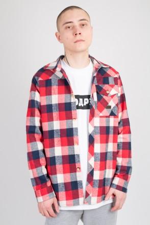 Harbor Shirt Red/Dark Blue/White
