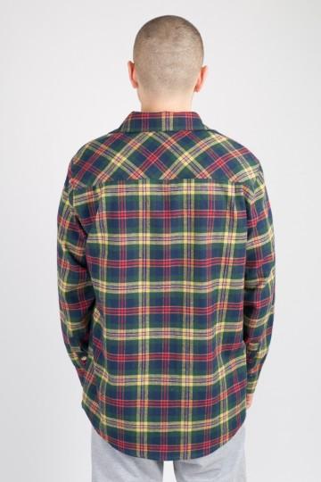 Рубашка Harbor Зеленый/Синий/Горчичный