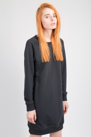 Clean Dress Summer Crew-neck Anthracite