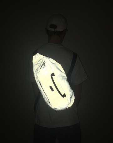Сумка Hip Bag XXL Черная светоотражающая