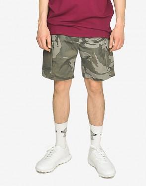 Cargo Cut Shorts Gray Camo