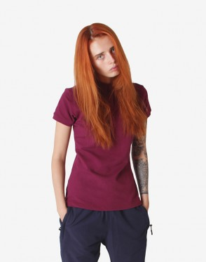 Side Polo T-shirt Bordeaux