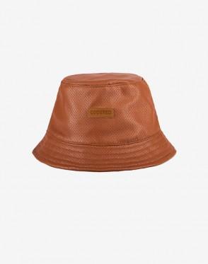 Панама Bucket Коричневая кожа