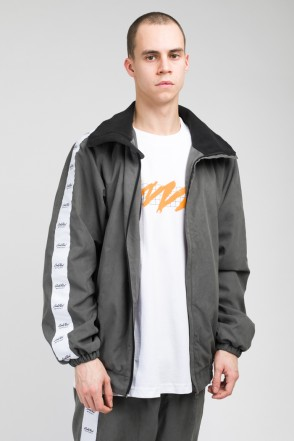 Stripe Track Jacket Dark Gray