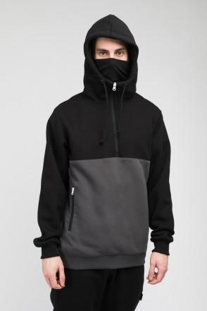 Толстовка Mask Combo Черный/Серый Темный