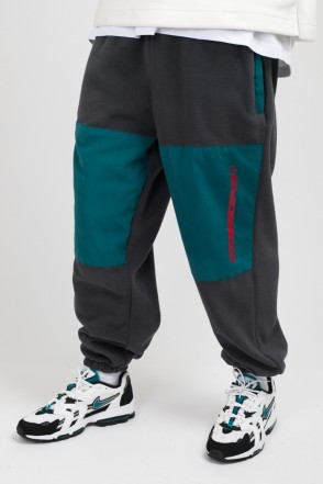 Fever Fleece Pants Gray Fleece/Sea Green