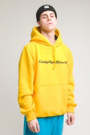 Hood Up Hoodie Warm Yellow Industry