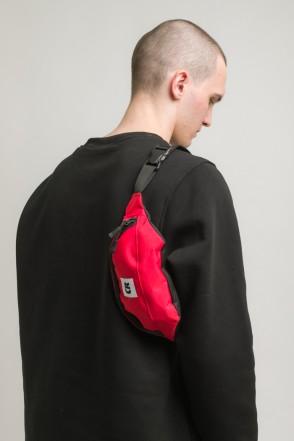Сумка поясная Hip Bag Красный Таслан CR