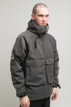 3Z COR Windbreaker Dark Grey Membrane