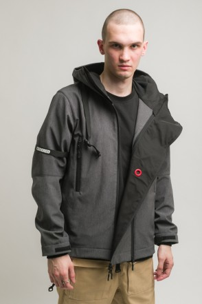 Safe 3 COR Jacket Graphite Black Softshell
