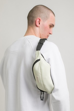 Hip Bag White Perforated Art. Leather