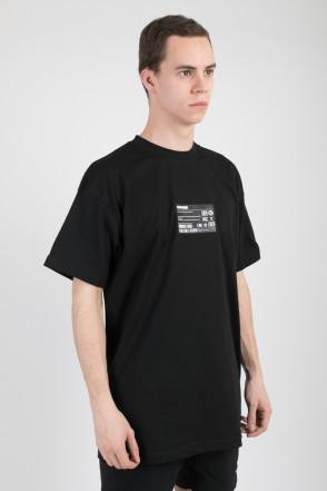 T+ Desktop Computer Barcode T-shirt Black
