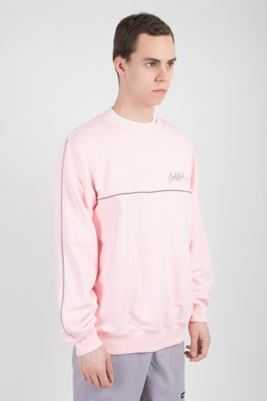 Piping Crew Crew-neck Pale Pink
