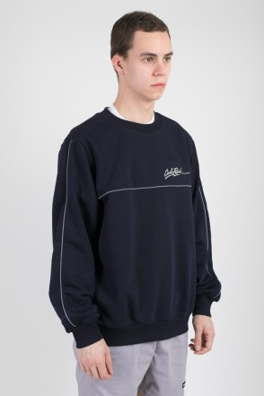Piping Crew Crew-neck Ink Blue