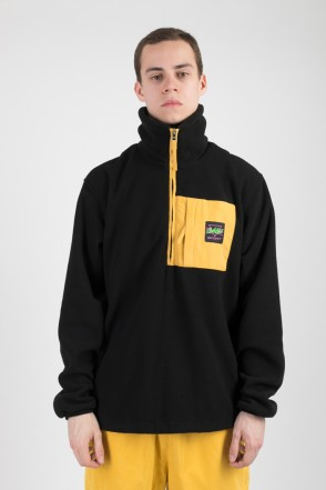 Fever Fleece Sweatshirt Black/Mustard