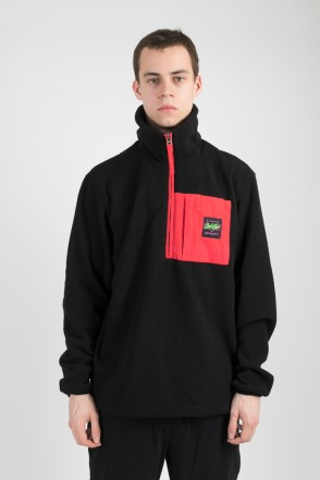 Fever Fleece Sweatshirt Black/Red Vintage