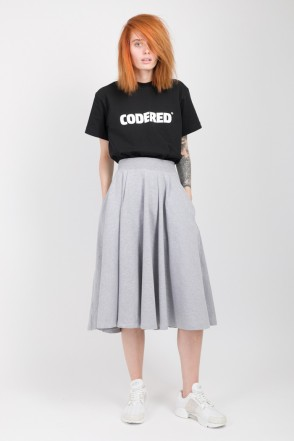 Sun Skirt Gray Melange