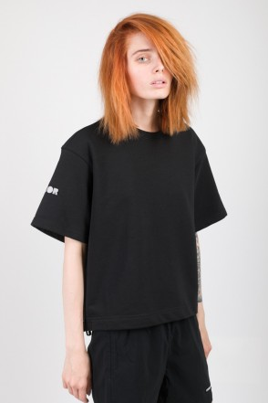Stage Lady Crop COR T-shirt Black