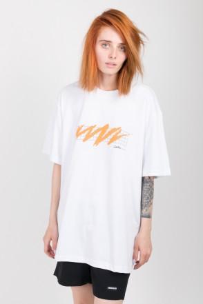 Zig Zag Mesh T-shirt White