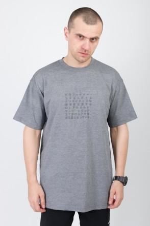 T+ Japanese Text T-shirt Dark Gray Melange