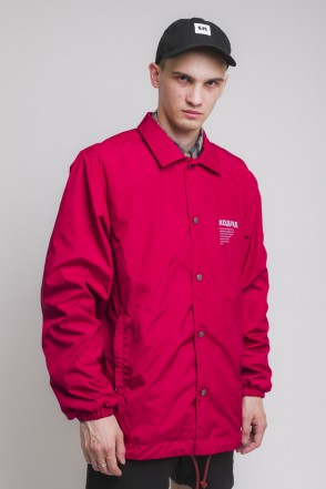 Coach Windbreaker Dark Red