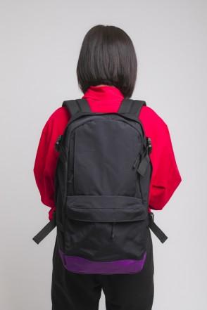 Action Backpack Black/Violet/Black logo CODERED