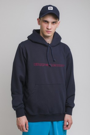 Hood Up Summer Hoodie Navy Outline Sport Cyrillic
