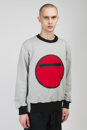 Forcefilm COR Crew-neck Warm Gray Melange/Red