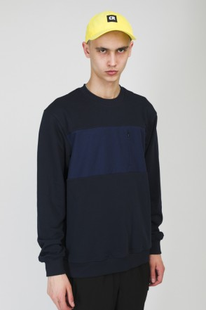 Block Summer Crew-neck Navy/Ink Blue